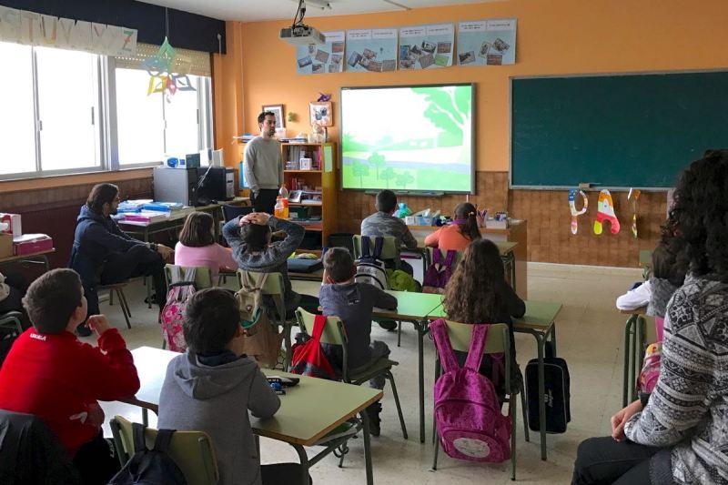 Co alumnado de 4º de primaria do CPI Castroverde