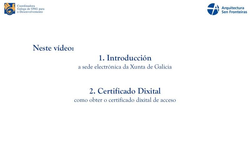CGONGD: Video Titorial para ONGD (I): A sede Electrónica da Xunta de Galicia e Obtención do Certificado Electrónico