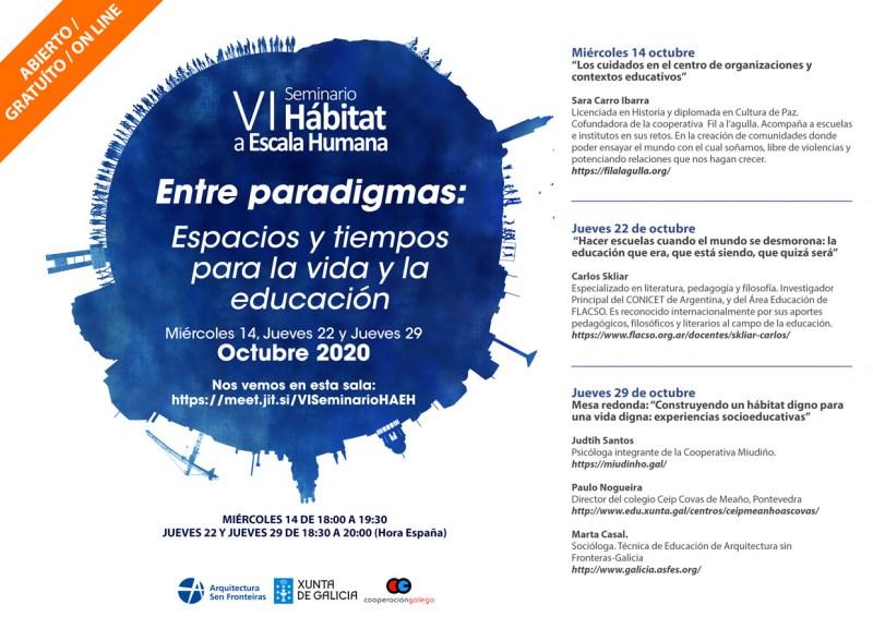 VI Edición do Seminario Hábitat a Escala Humana: Entre paradigmas