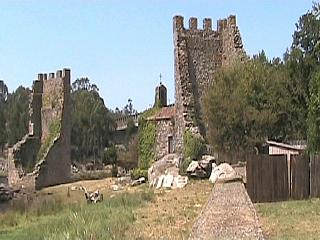 The Two Torres de Oeste at Catoira, Galicia