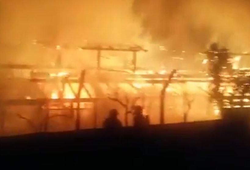 Incendio en A Chavasqueira