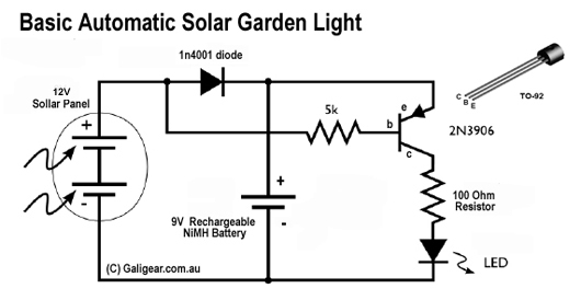solar led lightand charging circuit