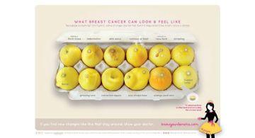 Conosci i tuoi limoni, la campagna contro il cancro al seno