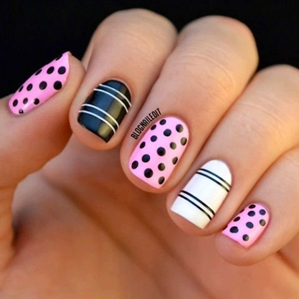 Apply Top Coat If Available To Give Better And Shiny Finish Your Striped Simple Nail Art Designs