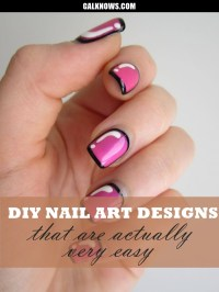 Easy Do It Yourself Nail Art Designs - kitharingtonweb
