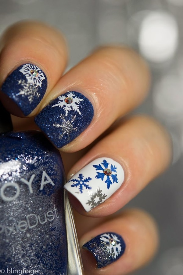 Simple Christmas Nail Art For Short Nails Ideas