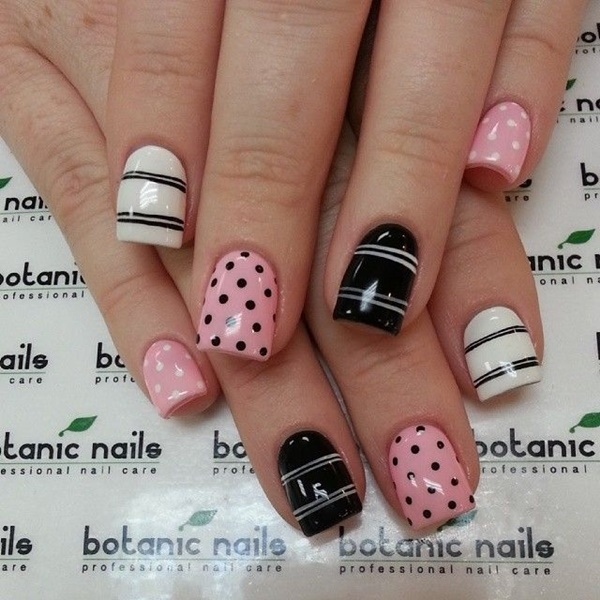 Cute Pink And White Nails Designs 10