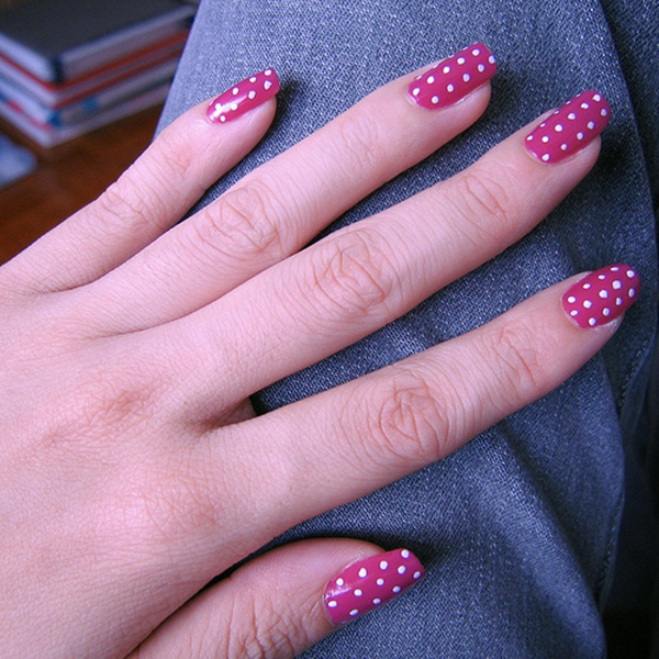 Pink And White Nail Art 80