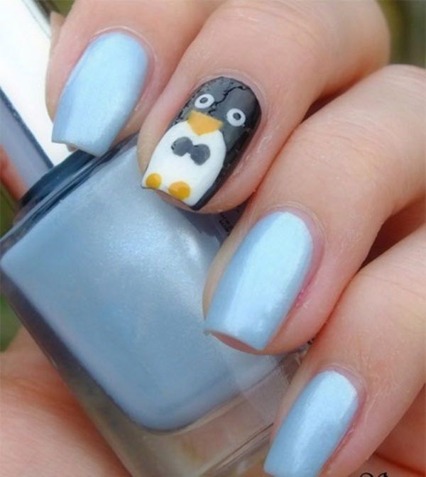 Baby Penguin Nails