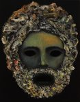 Klaus Kopu: 1. osa teoksesta The Earth Choir, akryyli ja öljy kankaalle, 38x30cm, 2019