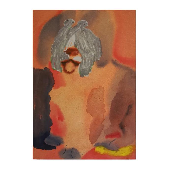 Hanna Hyy: Passive Aggressive, 2019, 35x25cm, akvarell på MDF-skiva