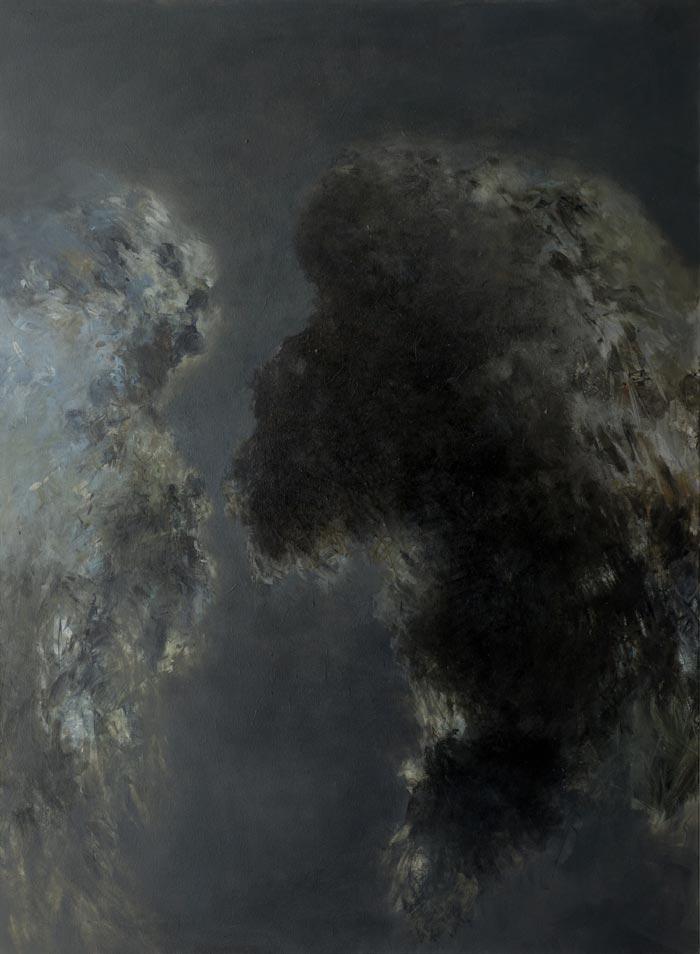 Katariina Salmijärvi, Känningar i svart, 2019, 190x140, öljy