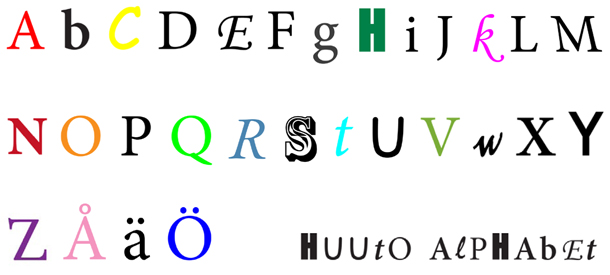 Huuto Alphabet