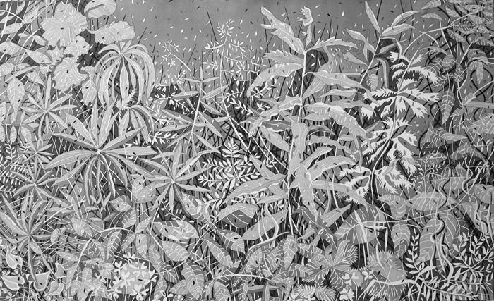 Pirjetta Brander: Ryteikkö,  Ink on paper, 80 x 120 cm, 2020