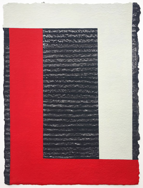 Janet Goleas: Geselle II, 2017, Gouche on paper, 16.5 x 12-25 inches