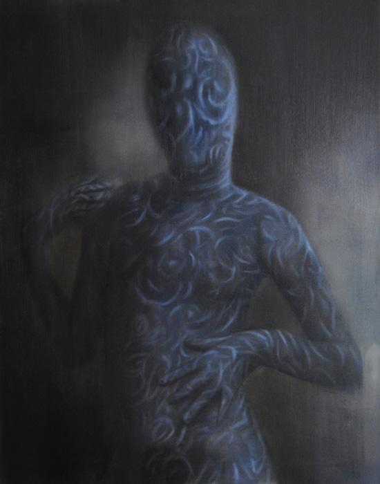 Leonor Ruiz Dubrovin: Self IV, oil on canvas, 77 x 61 cm, 2021