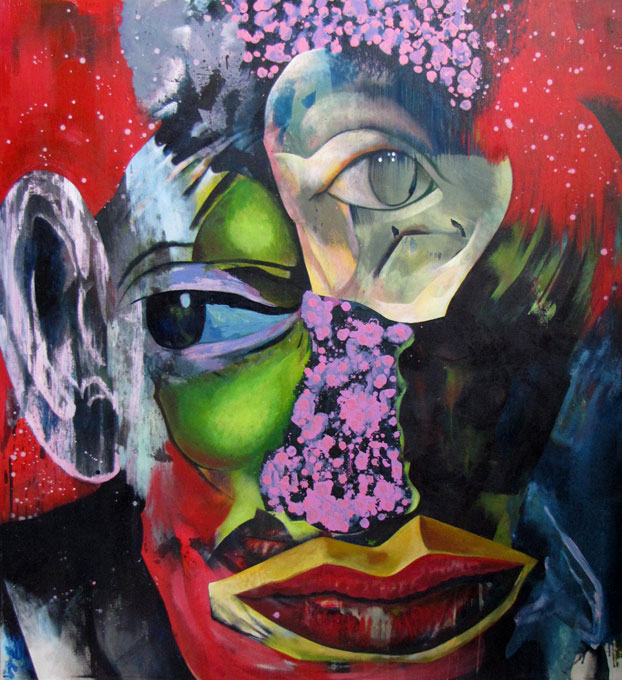 Revolutionarist (acrylic and oil, 2016)