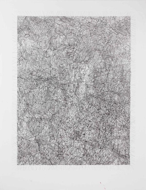 The Streaming, 109 x 84,5 cm, 2016, grafiitti, pohjustettu Dipond-levylle