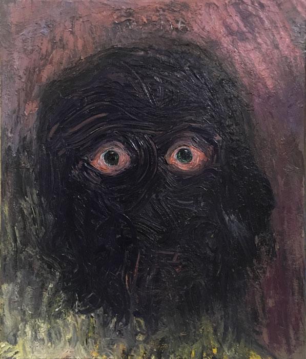 Ville Välikangas: nimetön, 71 x 60 cm, öljyväri kankaalle