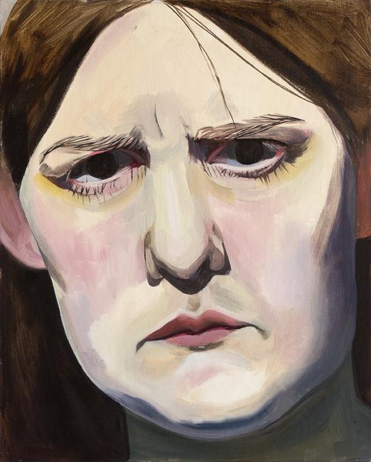 Matilda Enegren: Blinded, 33x41cm, oil on canvas board, 2017