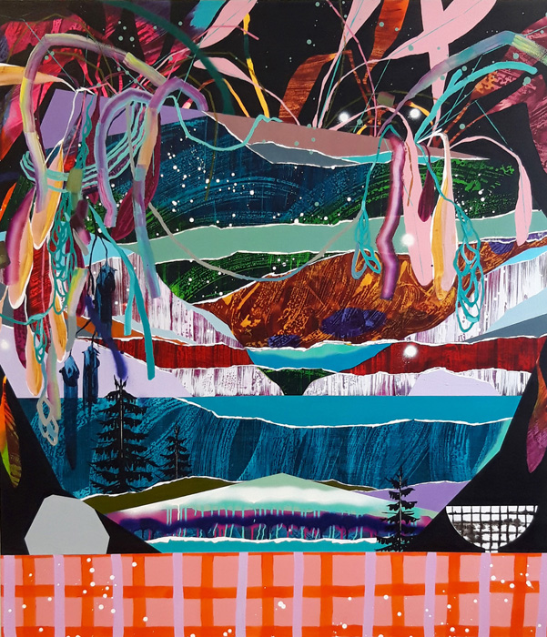 Milla Kuisma: Rönsyilevä ajatus, 2020, öljy ja akryyli kankaalle, 160 x 140 cm