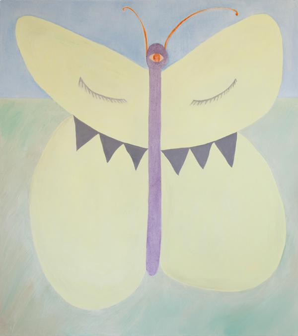 Kevätfantasia (Sitruunaperhonen), 135cm x 120cm, öljy kankaalle, 2014
