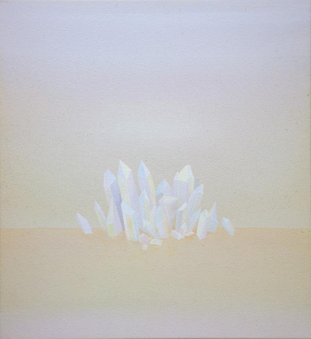 Vesa Hjort, Utopian Dream, akryyli kankaalle 60 x 55 cm, 2021