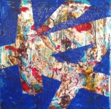Iznik Modern - Acrylic & Mixed Media 5 x 5 inches