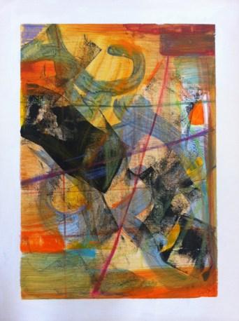 Tangerine Era 2 Acrylic on Canvas - 15 x 18 inches
