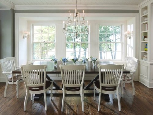 White timber dining chairs. Gallerie B blog.