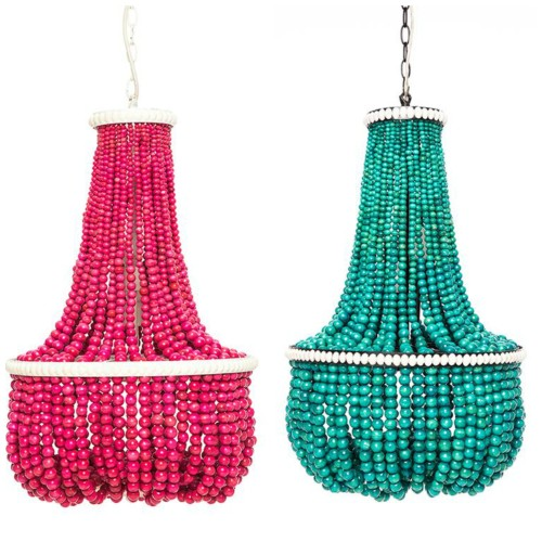 Beaded chandeliers. Friday's Favourites.