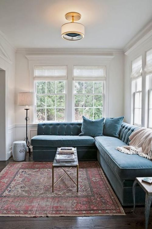 5 Ways to Style A Throw Rug: Gallerie B blog.