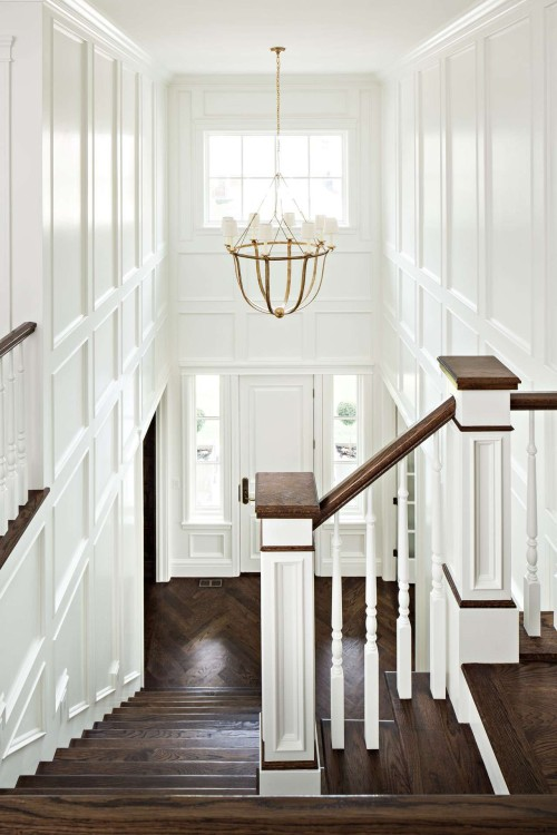 Beautiful millwork in this entrance foyer. Friday's Favourites, Gallerie B blog.