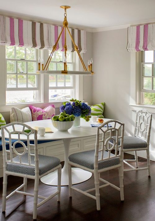 Colourful breakfast nook. Friday's Favourites.