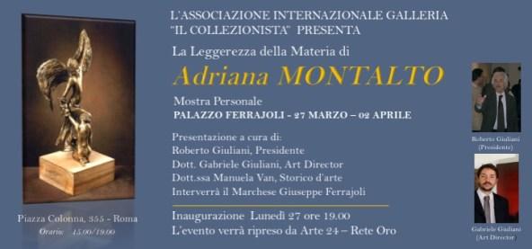 Mostra Personale di Adriana Montalto a palazzo Ferrajoli
