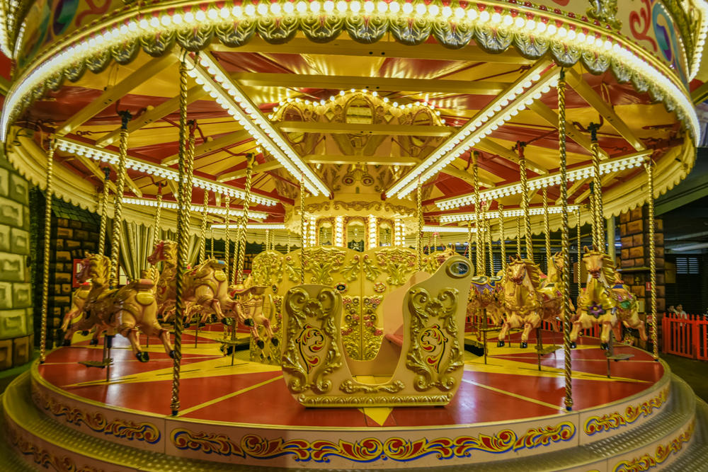 Golden Carousel Luna Park Sydney Australia photo by Matt Dobson