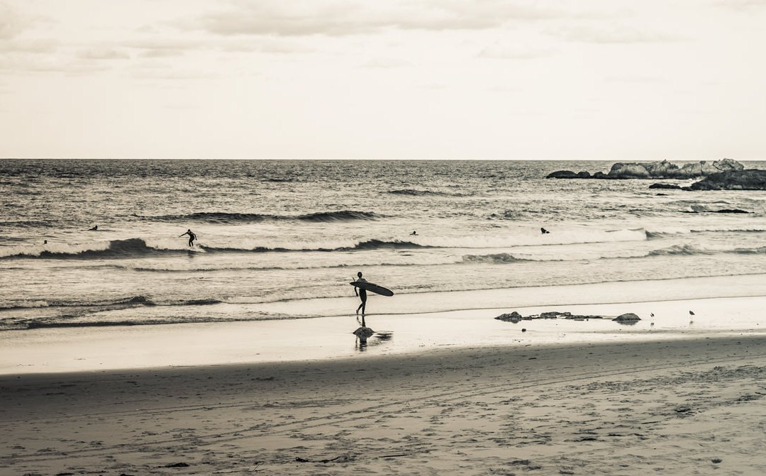 Town Beach surfers at dusk – Port Macquarie