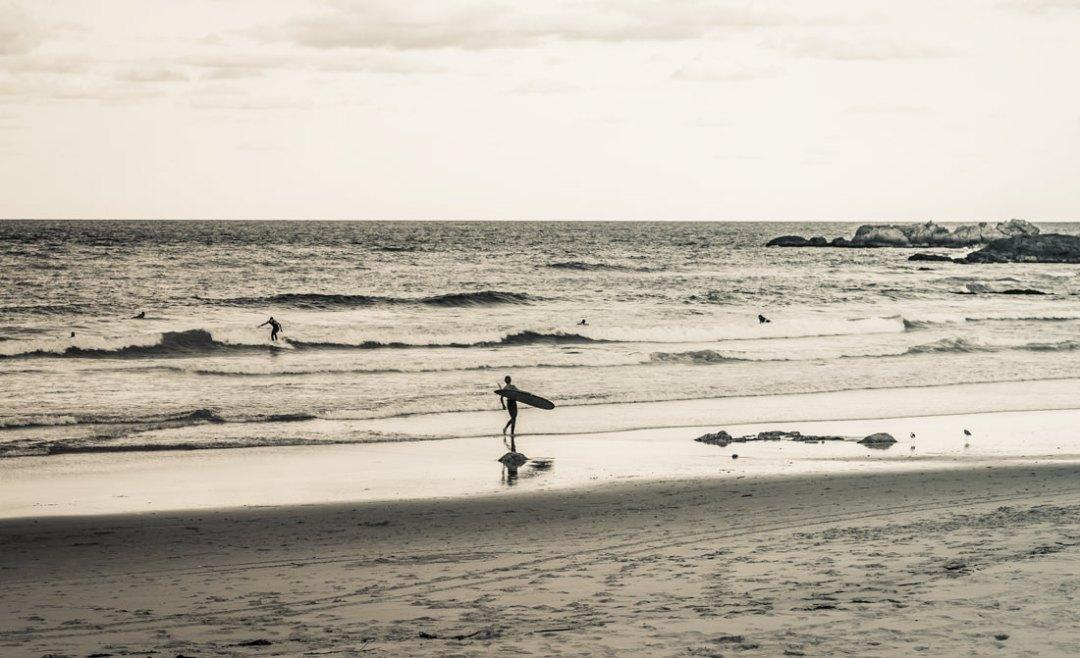 Longboarders at dusk port Macquarie