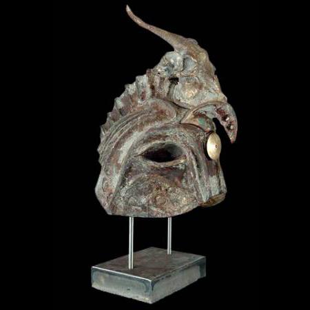 Helmet of Warrior God with birdscull