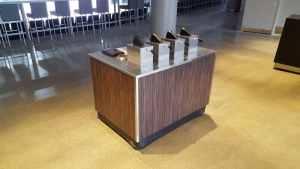 Arena Condiment Cart Kiosk Venues Condiment Rogers Place Edmonton Canada 2