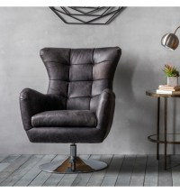 Bristol Swivel Chair Antique Ebony | Gallery Direct