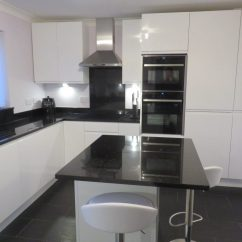 Solid Wood Kitchen Island Mixer Machine Strada Gloss White Kitchen, Fitted In Kingswinford, West ...
