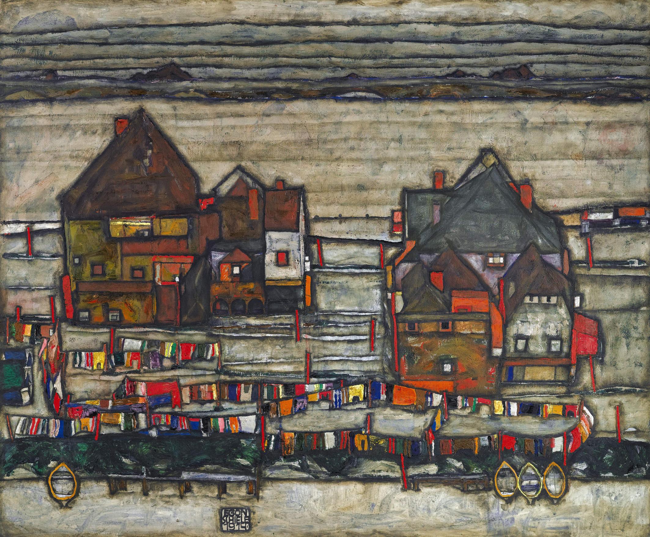 Häuser mit bunter Wäsche (Vorstadt II)