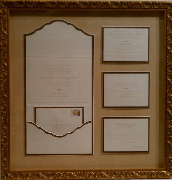 Fashion Wedding Invitation Cards Gold Foiling Frame Church Style Invitations Suppliers 50sets