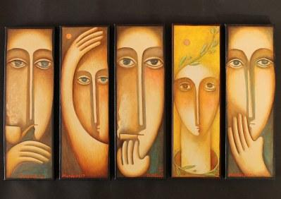 "Christou Mattheos paintings - ""May"""
