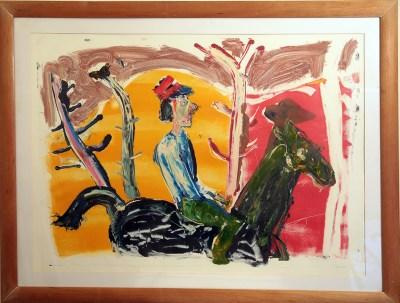 Horse and Rider by John Kiki