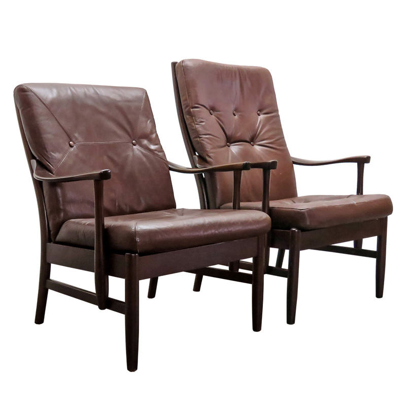 ... Danish Leather Side Chairs. $3100.00. prev  sc 1 st  Gallery L7 & Set of Two Danish Leather Side Chairs u2013 Gallery L7