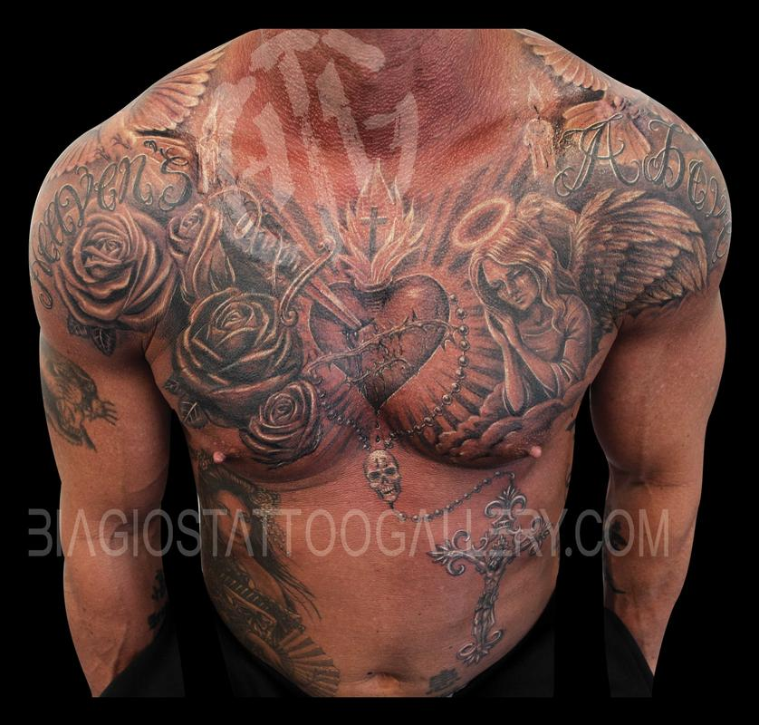 Fire Tatoos On Chest