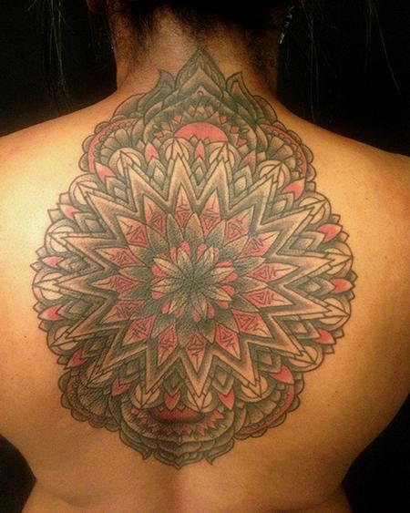 Tattoo Black Red Mandala