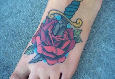 Dagger With Rose Tattoo Design Tattoobite